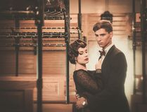 Vintage style couple Royalty Free Stock Images