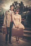 Vintage style couple Royalty Free Stock Photo