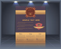 Vintage Style Cover Vector Template Royalty Free Stock Photos