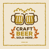 Vintage Style Craft Beer poster Stock Photography