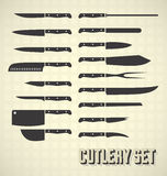 Vintage Style Cutlery Knife Set Royalty Free Stock Photos