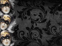 Vintage style dark masquerade background Royalty Free Stock Photography