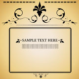 Vintage style decorative frame Royalty Free Stock Images