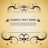 Vintage style decorative frame Royalty Free Stock Photos