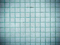 Vintage style design of blue mosaic tile texture wall stock photo