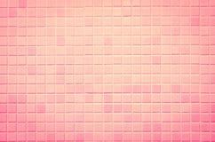 Vintage style design of mosaic tile texture wall Stock Photos