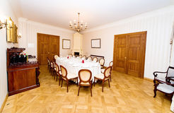 Vintage style dining room Royalty Free Stock Photos