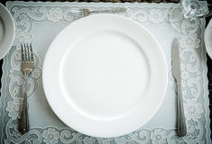 Vintage style of  dinner plate. Stock Photo