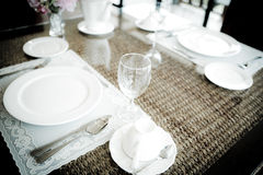 Vintage style of Dinning room. Royalty Free Stock Image
