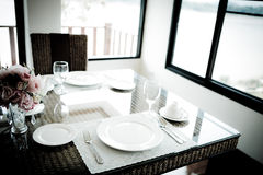 Vintage style of Dinning room. Stock Photography