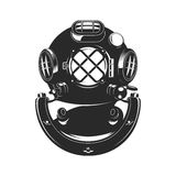 Vintage style diver helmet Royalty Free Stock Photos