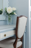 Vintage style dressing table and chair at home Royalty Free Stock Photography