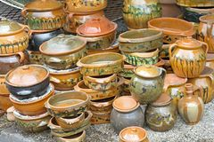 Earthenware pottery Royalty Free Stock Photo