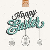 Vintage style Easter greeting card. Stock Photography