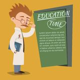 Vintage style Education Time poster design royalty free illustration