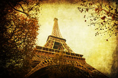 Vintage style Eiffel Tower Royalty Free Stock Photo
