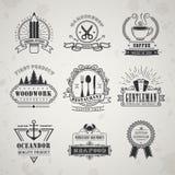Vintage style emblems set Royalty Free Stock Photos