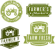 Vintage Style Farmers Market Stamps stock illustration