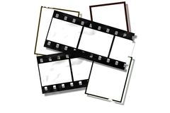 Vintage style film frames. Royalty Free Stock Photo