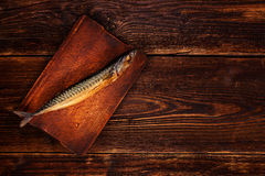 Vintage style fish with copy space. Stock Photo