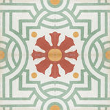 Vintage style floor tile pattern texture Royalty Free Stock Image