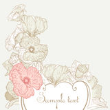 Vintage style floral background Royalty Free Stock Photo