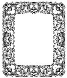 Vintage style floral frame Stock Photos