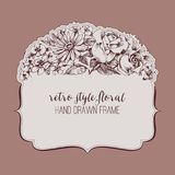 Vintage style floral frame Royalty Free Stock Images