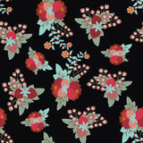 Vintage style  floral pattern Royalty Free Stock Images