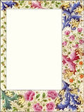 Vintage Style Floral Scrapbook Frame Border Royalty Free Stock Photography