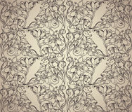 Vintage style floral seamless pattern. Royalty Free Stock Photos
