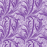 Vintage style floral seamless pattern in violet color. Royalty Free Stock Photography
