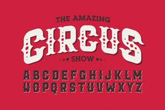 Vintage style font Stock Photography