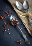 Vintage style food and spices photography Stock Images