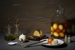 Vintage style food still life Stock Images