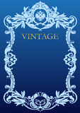 Vintage style frame Stock Images
