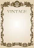 Vintage style frame brown Stock Photography