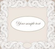 Vintage style - frame for text Royalty Free Stock Images