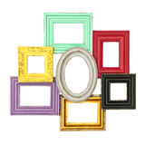 Vintage style frames for photo and picture Royalty Free Stock Images