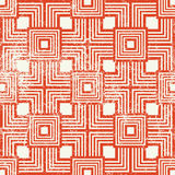 Vintage style geometric seamless background, retro vector repeat Stock Photos