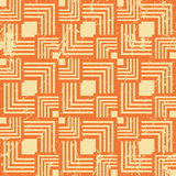 Vintage style geometric seamless background, retro vector Royalty Free Stock Images