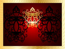 Vintage style gold frame Royalty Free Stock Photo