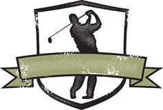 Vintage Style Golf Crest Royalty Free Stock Photo