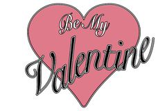 Vintage style greeting be my valentine royalty free stock photos