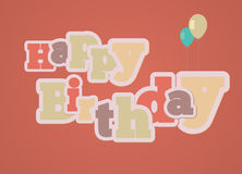 Vintage style happy birthday card Royalty Free Stock Photos