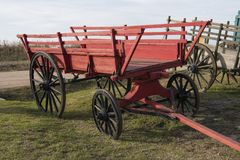Old-style horse-drawn cart of countryside Royalty Free Stock Photo