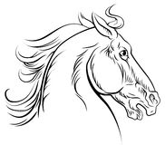 Vintage style horse. An original illustration of a horse head in a vintage woodcut woodblock style Royalty Free Stock Photo