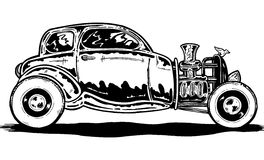 Vintage style Hotrod car illustration royalty free illustration