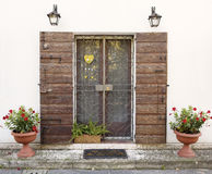 Vintage style house entrance Royalty Free Stock Photography