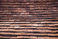 Vintage style of house roof. House roof made of wooden square shape Royalty Free Stock Photos